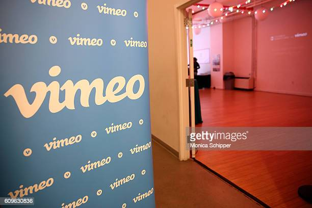 A view of the Vimeo signage at the entrance to Chicken Egg Pictures Ulmes Present A Celebration of Women in Film on September 21 2016 in New York City