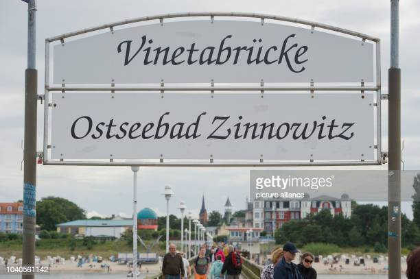 View of the Vineta pier in Zinnowitz on Usedom island, Germany, 2 August 2016. PHOTO: STEFAN SAUER/dpa   usage worldwide