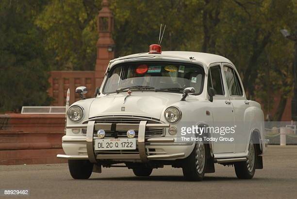 View of the VIP Ambassador Car in New Delhi India
