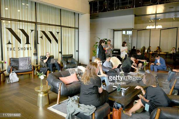 View of the VIP Lounge in Spring Studios during New York Fashion Week: The Shows at Spring Studios on September 04, 2019 in New York City.