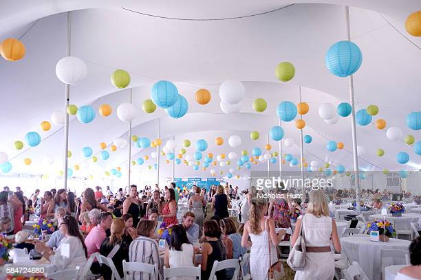 A view of the VIP tent during OCRFA's 19th Annual Super Saturday NY Hosted by Kelly Ripa Donna Karan and Gabby Karan de Felice on July 30 2016 in...