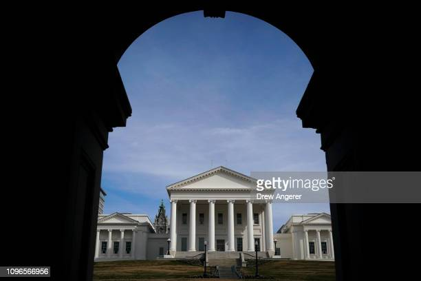 A view of the Virginia State Capitol February 9 2019 in Richmond Virginia Virginia state politics are in a state of upheaval with Governor Ralph...
