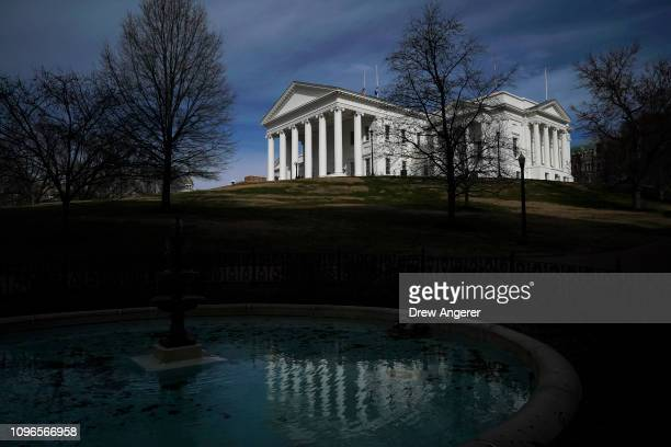 View of the Virginia State Capitol, February 9, 2019 in Richmond, Virginia. Virginia state politics are in a state of upheaval, with Governor Ralph...