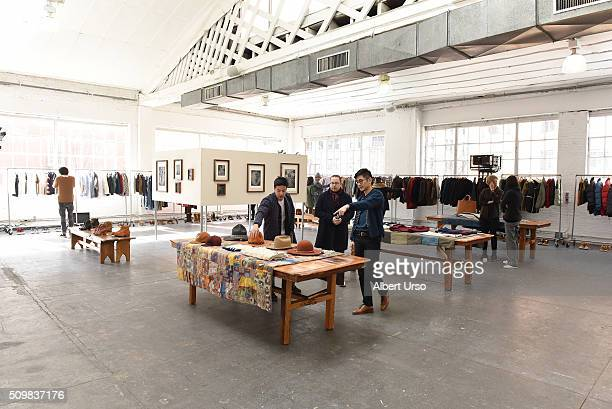 A view of the Visvim presentation during Fall 2016 New York Fashion Week at Industria Superstudio on February 12 2016 in New York City