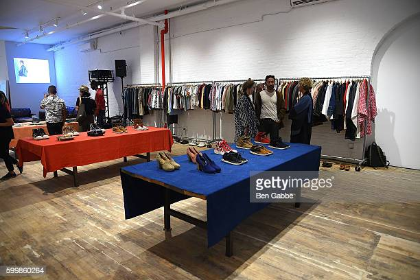 A view of the Visvim showroom during the Visvim presentation on September 7 2016 in New York City