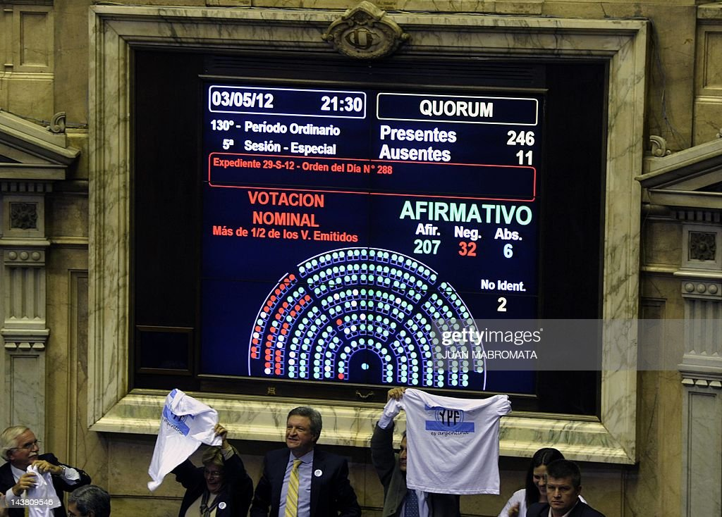 View of the votation display as Argentin : News Photo
