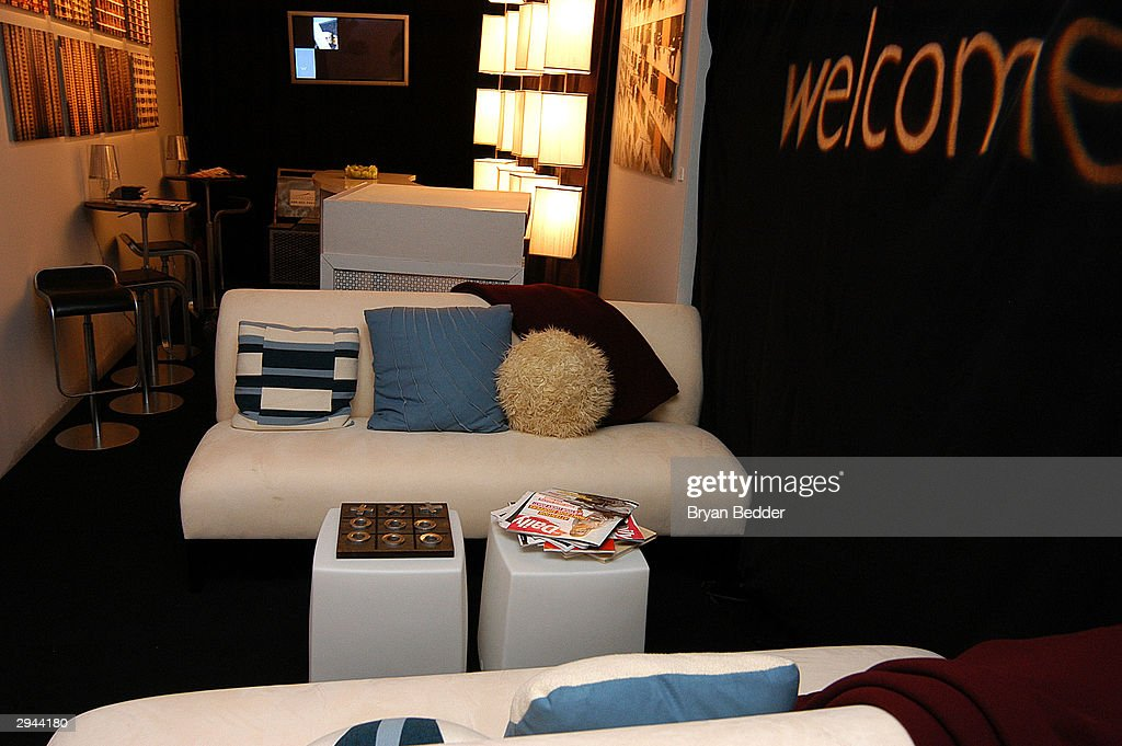 View of the W Hotel Lounge during Olympus Fashion Week at