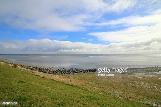 View of the Waddensea from the dyke in Vlieland