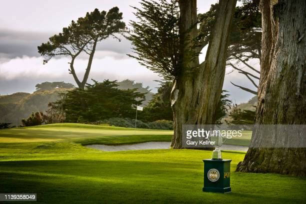 View of the Wanamaker Trophy hole at TPC Harding Park on October 2, 2018 in San Fransisco, California.