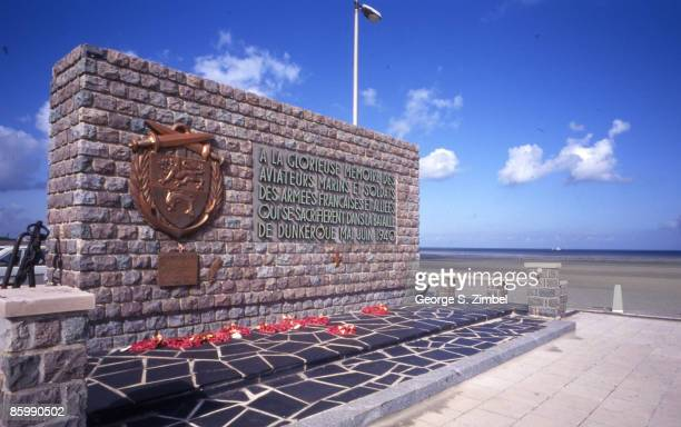 View of the war memorial honoring the pilots marines and soldiers in the Battle of Dunkirk Dunkirk France 1999