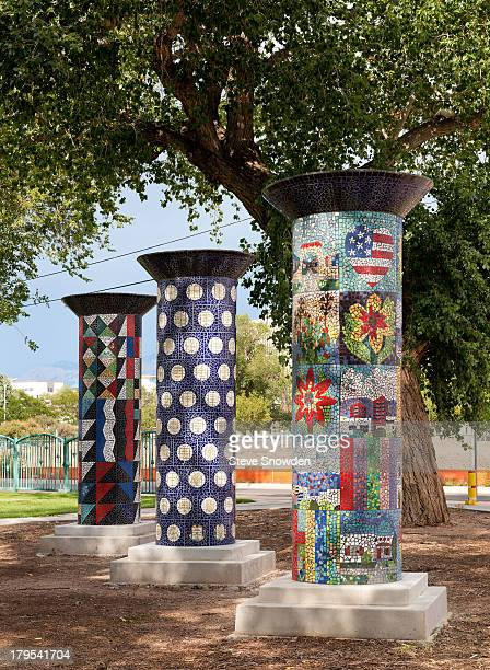A view of the Washington Middle School Park on September 02 2013 in Albuquerque New Mexico Brandon 'Badger' Mayhew sold meth around these pillars...