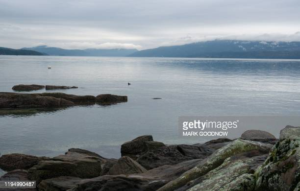 View of the waterfront in North Saanich, Municipality in Vancouver Island, British Columbia, Canada on January 20, 2020. - Britain's Prince Harry has...