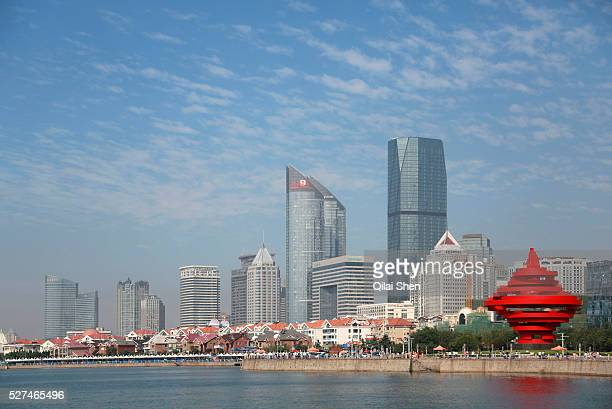 A view of the waterfront property in Qingdao Shandong Province China on 23 August 2012 Qingdao is recognized as one of the most livable cities in...