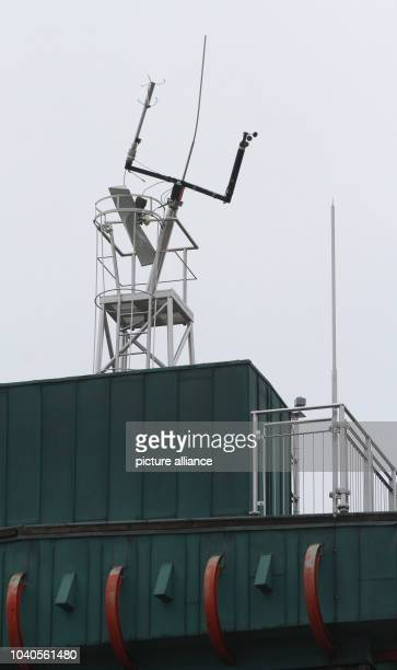View of the weather measuring system at the weather station on Brocken Mountain near Schierke Germany 11 April 2014 Asmall aircraft crashed on...