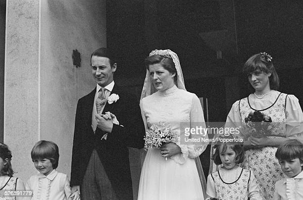 View of the wedding of Robert Fellowes and Lady Jane Spencer in London on 20th April 1978 Lady Diana Spencer is a bridesmaid at the ceremony