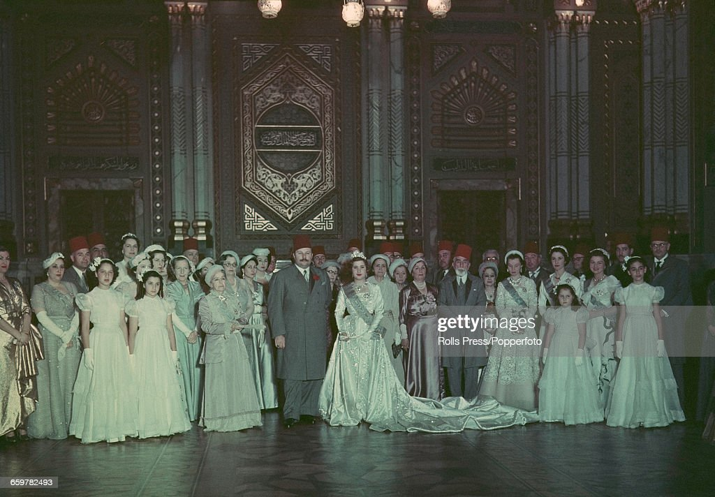 Farouk Of Egypt Weds : News Photo