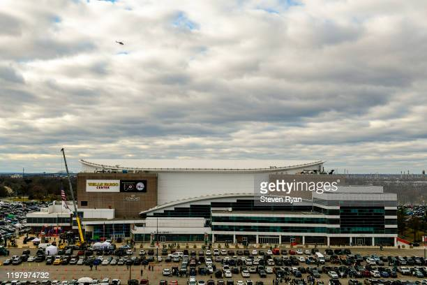 A view of the Wells Fargo Center prior to the NFC Wild Card Playoff game between the Philadelphia Eagles and the Seattle Seahawks at Lincoln...