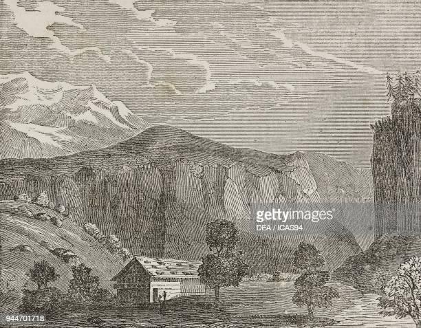 View of the Wengen Alps Jungfrau Switzerland illustration from Teatro universale Raccolta enciclopedica e scenografica No 274 October 5 1839