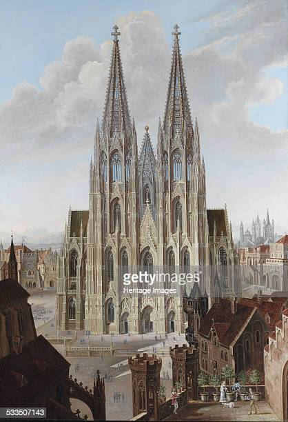 View of the west facade of the Cologne Cathedral 1839 Found in the collection of Schweizerisches Nationalmuseum Affoltern