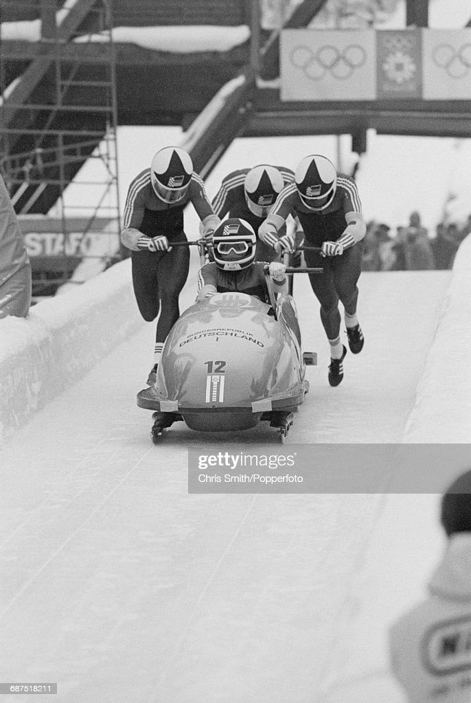 Bobsleigh at XIV Winter Olympics : News Photo