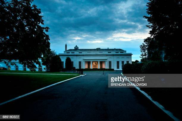 A view of the West Wing of the White House May 27 2017 in Washington DC / AFP PHOTO / Brendan Smialowski
