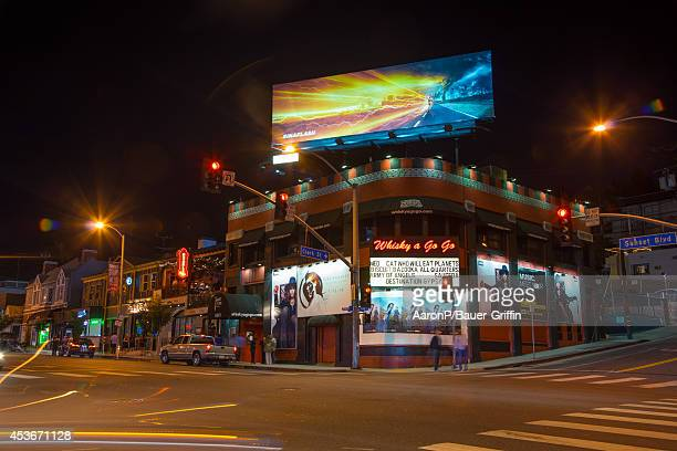 View of the Whisky A Go Go night club in West Hollywood on August 15, 2014 in Los Angeles, California.