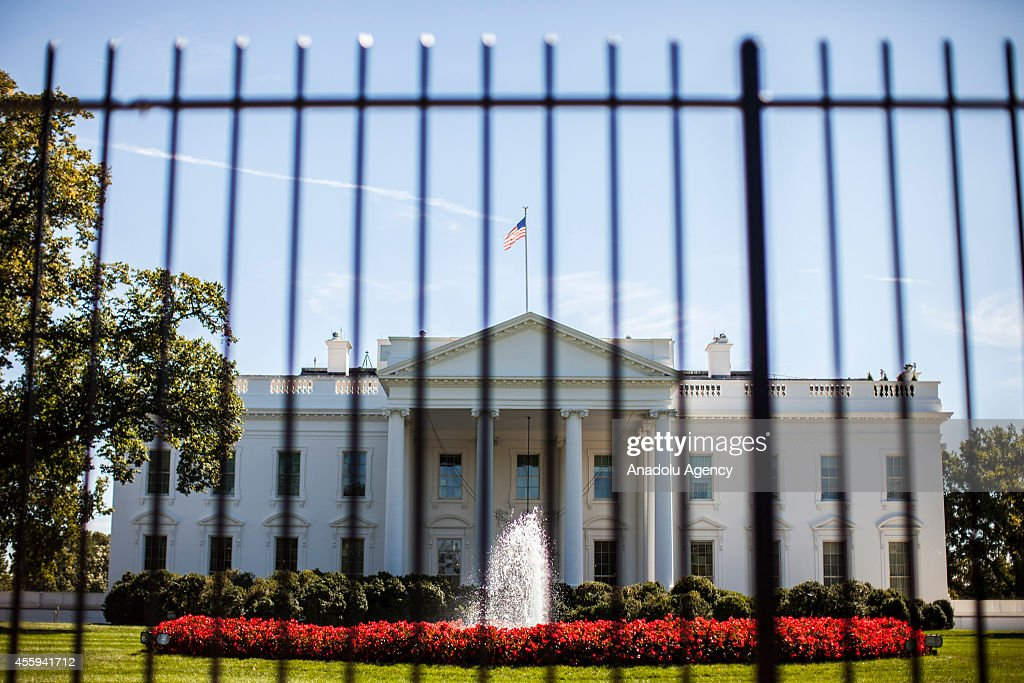 Security measures outside of White House : News Photo
