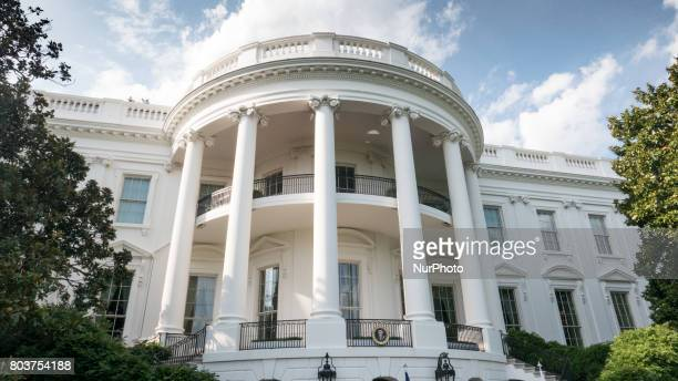 A view of the White House from the South Lawn of the White House on Thursday June 29 2017