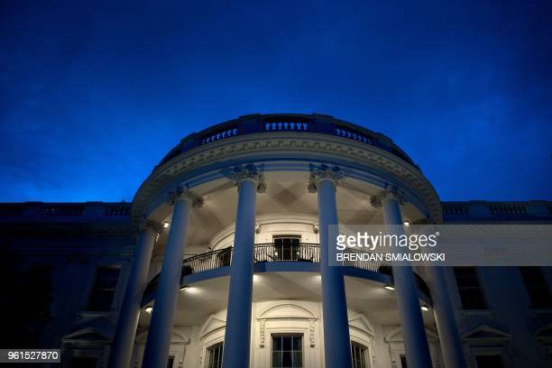 View of the White House May 22, 2018 in Washington, DC.
