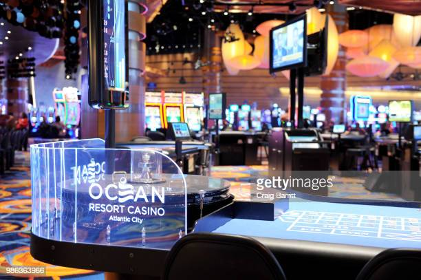 A view of the William Hill Sports Book Opening at Ocean Resort Casino on June 28 2018 in Atlantic City New Jersey
