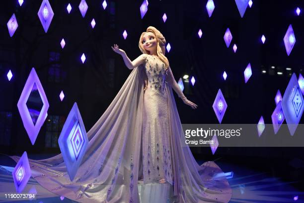A view of the windows during the Disney and Saks Fifth Avenue unveiling of Disney Frozen 2 holiday windows on November 25 2019 in New York City