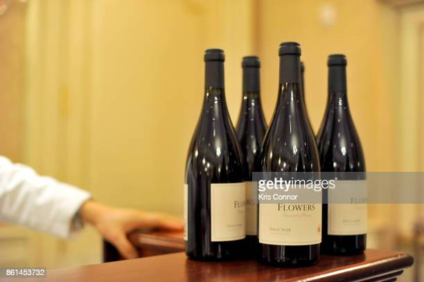 A view of the wines being served during a Dinner with Paul Kahan and Marc Vetri part of the Bank of America Dinner Series presented by The Wall...