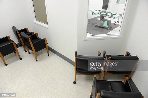 A view of the witness room for the victims family outside the new lethal injection chamber at San Quentin State Prison The new facility costs $853