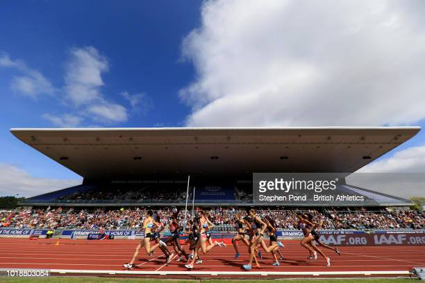 A view of the Women's 1500m during the Muller Grand Prix Birmingham IAAF Diamond League event at Alexander Stadium on August 18 2018 in Birmingham...