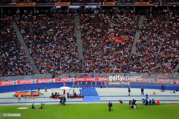 View of the Women's 5000m during day six of the 24th European Athletics Championships at Olympiastadion on August 12, 2018 in Berlin, Germany. This...