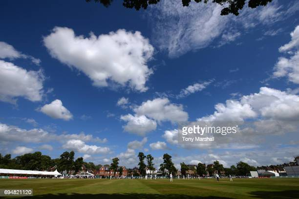 A view of The Woodbridge Road Ground during the Specsavers County Championship Division One match between Surrey and Essex at Guildford Cricket Club...