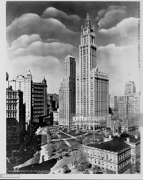 A view of the Woolworth Building designed by Gilbert Cass and completed in 1913