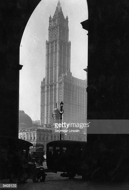 A view of the Woolworth Building New York Completed in 1913 it claimed title as the world's tallest building until 1930