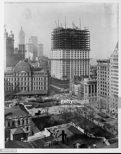A view of the Woolworth Building under construction The Woolworth Building designed by Cass Gilbert became the tallest building in the world when it...