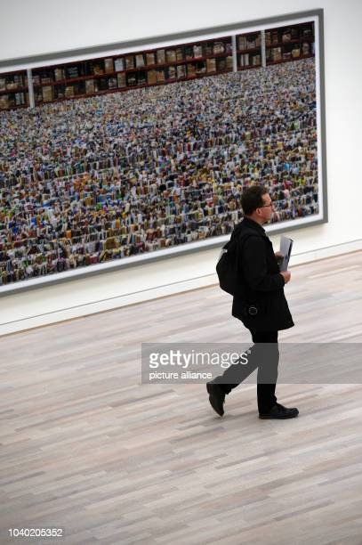 View of the work 'Amazon 2016' during a preview at Kunstsammlung NordrheinWestfalen in Duesseldorf Germany 30 June 2016 The exhibition Andreas Gursky...