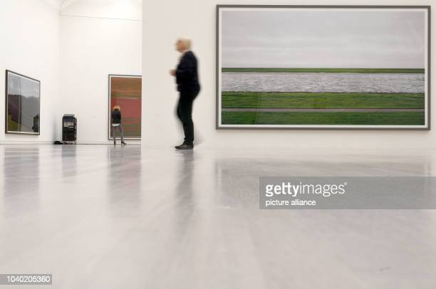 View of the work 'Rhein II 1999/2015' during a preview at Kunstsammlung NordrheinWestfalen in Duesseldorf Germany 30 June 2016 The exhibition Andreas...