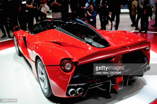 A view of the world premiere LaFerrari shown on the Ferrari stand at the Geneva Motor Show in Geneva in Switzerland on March 5 2013