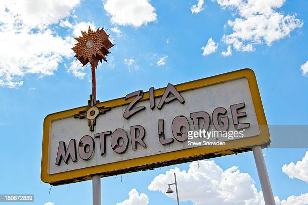 A view of the Zia Motor Lodge sign on September 01 2013 in Albuquerque New Mexico This vintage is seen in Breaking Bad Season 4 'Box Cutter'