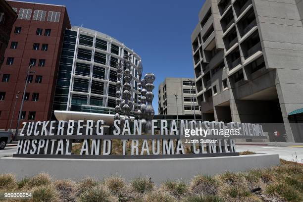 A view of the Zuckerberg San Francisco General Hospital and Trauma Center on May 16 2018 in San Francisco California In the wake of widespread data...