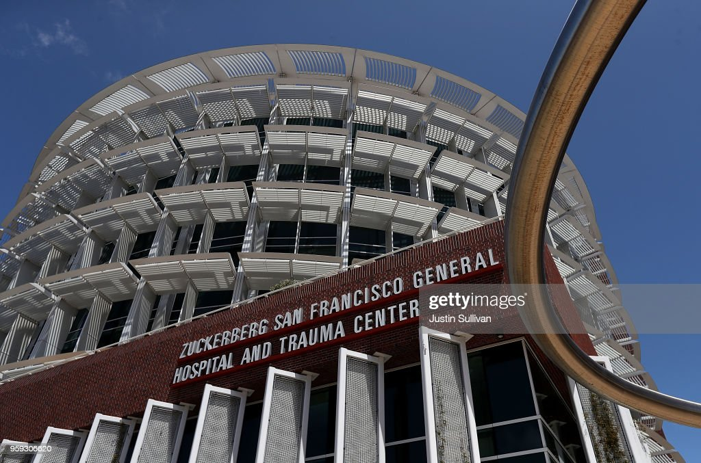 A view of the Zuckerberg San Francisco General Hospital and Trauma Center on May 16, 2018 in San Francisco, California. In the wake of widespread data breaches at Facebook, patients and nurses at Zuckerberg San Francisco General Hospital and Trauma Center are fearing for their privacy at the hospital. San Francisco General Hospital changed its name to Zuckerberg San Francisco General in 2015 after Facebook CEO Mark Zuckerberg and his wife Priscilla Chan donated $75 million to the 147-year-old institution.