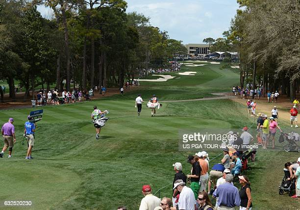 A view of the18th fairway during the third round of the Valspar Championship at Innisbrook Resort Copperhead Course on March 12 2016 in Palm Harbor...