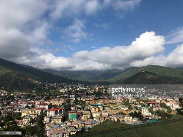 View of Thimphu, Bhutans capital city, on October 15, 2018.