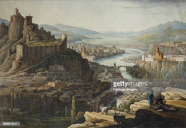 View of Tiflis, End 1830s. Found in the collection of State Tretyakov Gallery, Moscow. Artist : Chernetsov, Nikanor Grigoryevich .