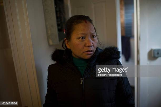 View of Tika Gurung as she looks for a new apartment Burlington Vermont December 10 2015 Members of the extended Gurung family moved to the...