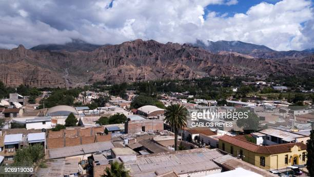 View of Tilcara in the northern province of Jujuy Argentina on February 15 2018 A popular myth tells that Argentina will never become champion again...